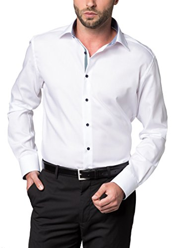 ETERNA long sleeve Shirt MODERN FIT Pinpoint uni Bianco