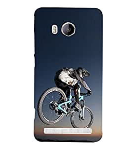 Bicycle Race Design 3D Hard Polycarbonate Designer Back Case Cover for Vivo Xshot