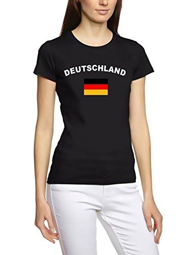 Deutschland T-Shirt girly Schwarz, Gr.L