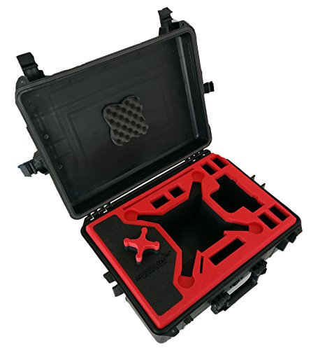 Koffer / Transportkoffer von MC CASES passend für DJI Phantom 3 Professional und Advanced mit Platz für 6 Akkus - 4
