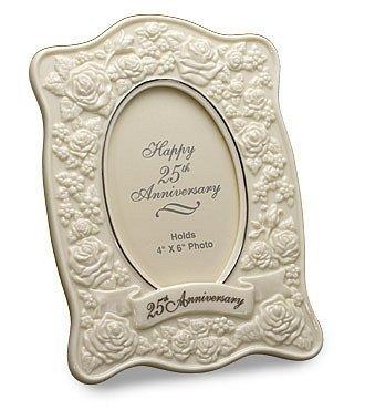 San Francisco Music Box Company - Le Blanc 25th Anniversary Roses Frame by San Francisco Music Box Company (Box Rose Music)