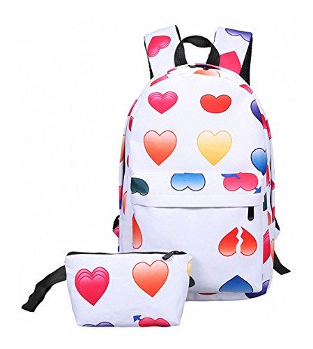 Keshi Nylon Cool Schulrucksäcke/Rucksack Damen/Mädchen Vintage Schule Rucksäcke mit Moderner Streifen für Teens Jungen Studenten Mehrfarbig 6