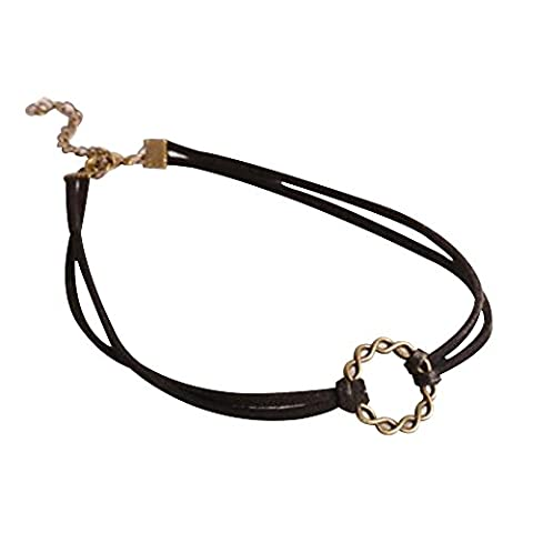 Contever® Gothic Vintage Classic Necklace Black Jewel Choker For Women Lady - Style 3