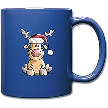 Weihnachten Kaffeebecher große Tasse Rentier Elch mit Weihnachtsmütze Neu