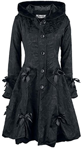 Poizen Industries Alice Rose Coat Cappotto donna nero M
