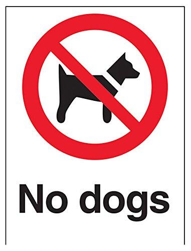 """Preisvergleich Produktbild vsafety 54003 an-s""""Keine Hunde"""" Verbot Zeichen,  selbstklebend,  Hochformat,  150 mm x 200 mm x 200 mm,  schwarz / rot"""