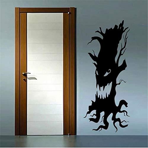 r Wandaufkleber Schlafzimmer Scary Tree Home Halloween Party Home Livingroom Baum Silhouette Scary Gesicht für Halloween Urlaub Dekor ()