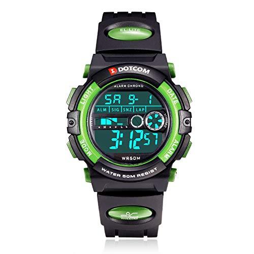Socico Niños Digital Relojes para Niños Niñas Deportes-5 ATM Reloj Deportivo Impermeable al Aire Libre con Alarma Cronómetro,Relojes de Pulsera Electrónicos para Niños.