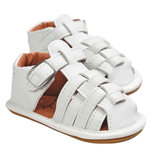 Chaussures de bébé,Fulltime® Filles garçon sandales enfant premières trotteurs Kid chaussures Blanc