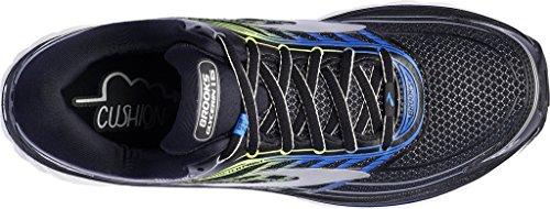 Brooks Glycerin 15, Chaussures De Course À Pied, Noir Étroit / Noir / Electricbrooksbleu / Vert