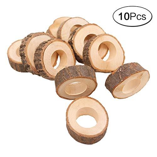 aoory 10 Kreis Holz Serviette Ring DIY Basteln Kits Hochzeit Party Tisch Ornament Dekoration -