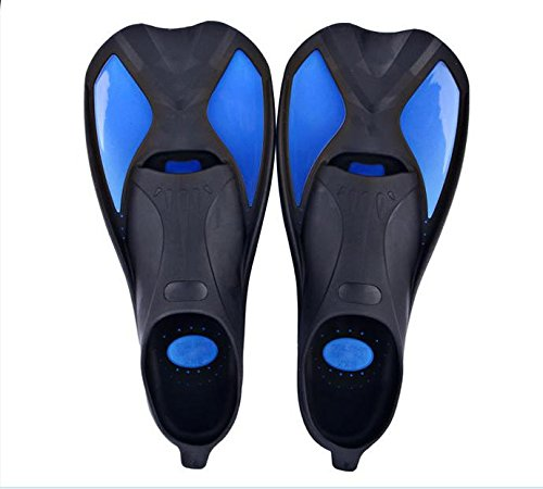 WENBIAOXUE Full Foot Scuba Diving Snorkeling Fins , black blue , xxs (34~35) (Scuba Fin)
