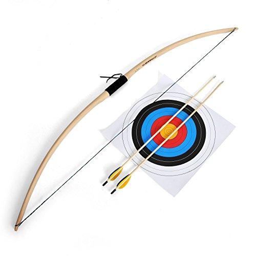 Bogen Set Elbenwald Sonderedition 5-teilig Bogen Sehne 2 Pfeile Zielscheibe zum (Kostüm Bogenschießen Set)