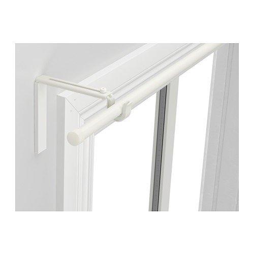 IKEA RÄCKA Gardinenstangenkombination in weiß; in der Länge verstellbar; (120-210cm)