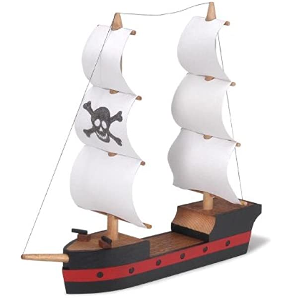 PIRATE SHIP Woodcraft Construction Kit