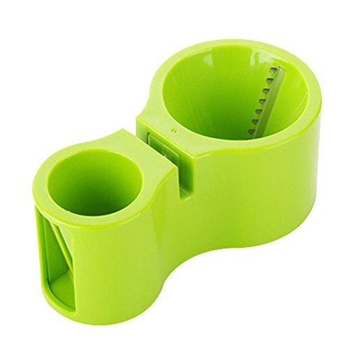 Forepin® Teste Doppie Frutta e Verdura Affettatrice a Spirale Taglierina Chopper Strumento da Cucina Twister Grattugia Spiral Slicer Utensili con Affilare i Coltelli -