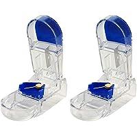 Apex - Tablettenteiler - Blau und transparent - Doppelpack preisvergleich bei billige-tabletten.eu
