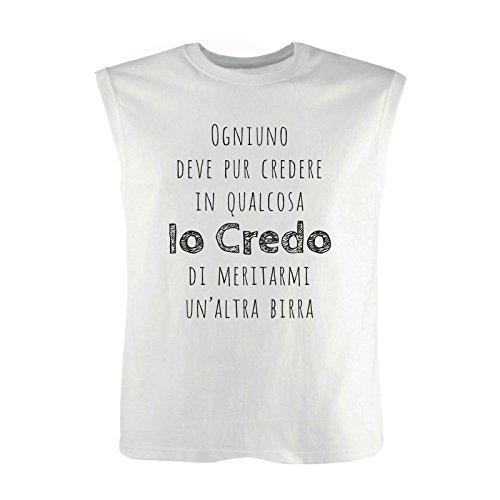 Art T-shirt Herren Top Bianco