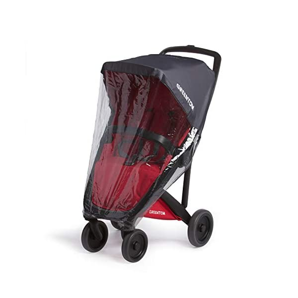 Greentom Classic UPP Lightweight Stroller, Adapters and Rain Cover For 6 Months upto 4.5 Years, Red Greentom High quality lightweight stroller by the brand Greentom Made of high quality (recycled) materials the first green stroller on planet earth Includes, chasisis, seat fabric, canopy, basket, raincover and car seat adapter 8