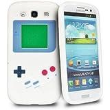 Gene(TM) neue nintendo game boy gameboy weiche Haut Silikon Hülle für Samsung Galaxy S3 i9300 - weiß