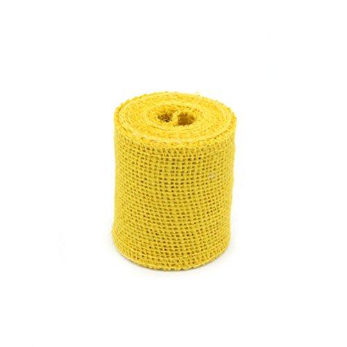 Sackleinen, für Dekoration, für Hochzeit / Party / Wohnung, 2mx6cm (gelb) ()