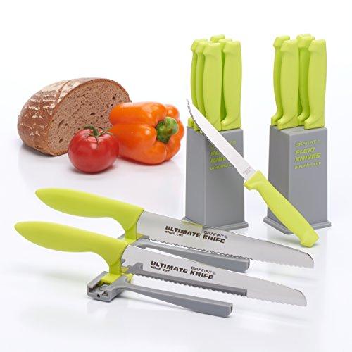 Messer Set 14 tlg. - 12x Steakmesser im Block und 2x Messer mit Abstandhalter