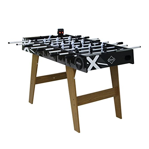 IFOYO Football Table, 4ft/48 inch Indoor Outdoor Foosball Table for Kids, Adults, Black
