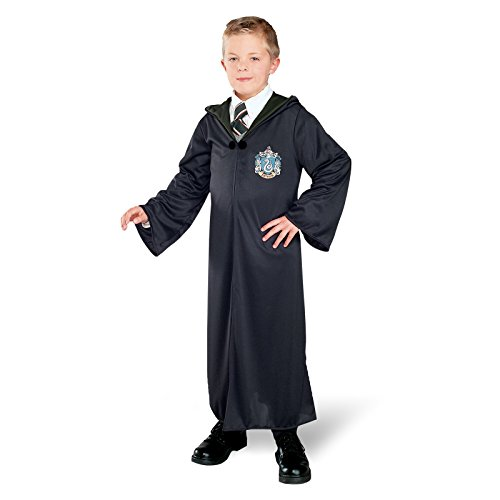 Harry Potter Kostüm - Slytherin Robe / Umhang mit Slytherin Wappen, für Kinder - S