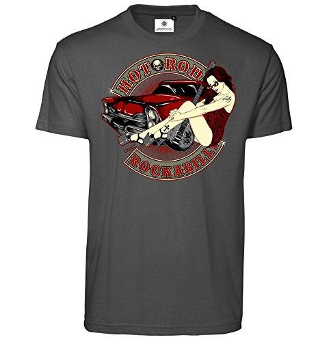 Bedrucktes Herren T-Shirt Hot Rod Rockabilly (L, Koks) (Hot T-shirts Herren)