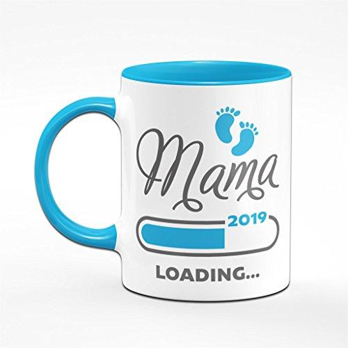 Mama loading 2019 Tasse in blau - für werdende Mütter - das perfekte Geschenk für Schwangere - Kaffeetasse - 2