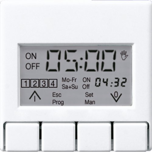 Jung A5201DTSTWW Zeitschaltuhr Display Standard