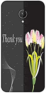 Snoogg Abstract Floral Vector With Place For The Text Design Designer Protective Back Case Cover For Micromax Canvas Spark Q380