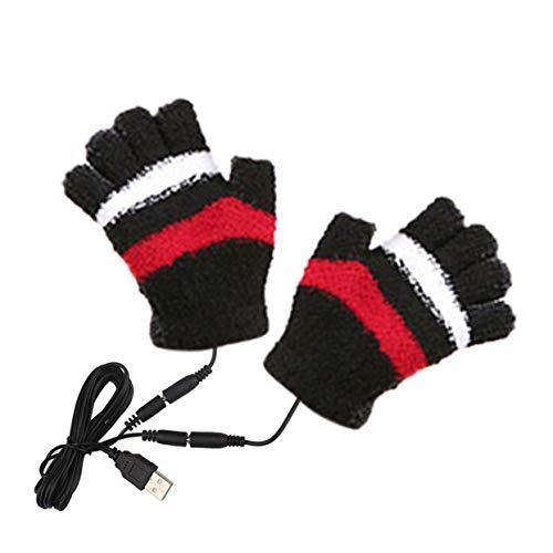Preisvergleich Produktbild Tree-on-Life Weibliche Handschuhe Unisex Winter Elektrische USB Erhitzen Farbe Hand Erwärmung Fingerlose USB Kabelhandschuhe
