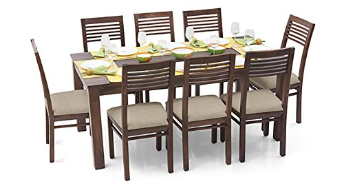 Urban Ladder Arabia XL - Zella Eight Seater Dining Table Set (Mahogany)