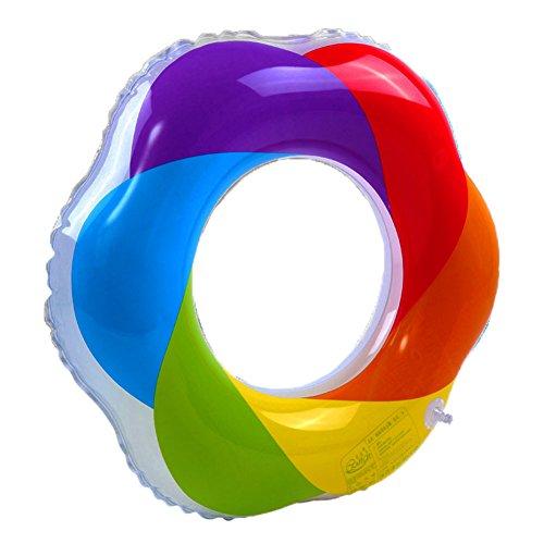 Tookie Anillo Hinchable para Natación, Arco Iris, PVC, Flotador Hinchable para Niños, Juegos de Agua, Natación, Entrenamiento