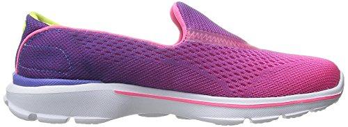 Skechers Go Walk 3, Chaussures de Running Compétition fille Violet (Purple Neon Pink)