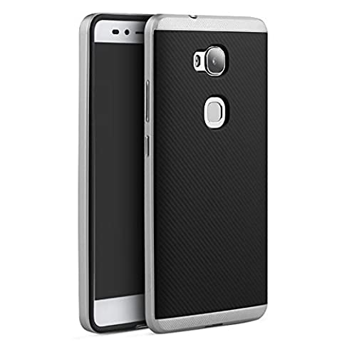 Coque pour Huawei Honor 5x Etui Honor 5X Cover VIFLYKOO Ultra Slim Légère Protection Coque Silicone Housse pour Huawei Honor 5x Smartphone Case - Silver