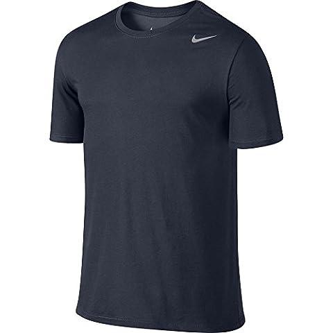 Nike Herren T-shirt Dri Fit Version 2.0, 706625-451, Blau (Obsidian/Matte Silver), Gr. L (Mannschaft Locker)