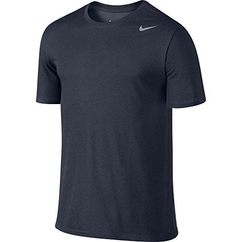 Nike Herren Dri-Fit Cotton Kurzarm 2.0 T-Shirt, Blau (Obsidian / Matt Silber), XL -