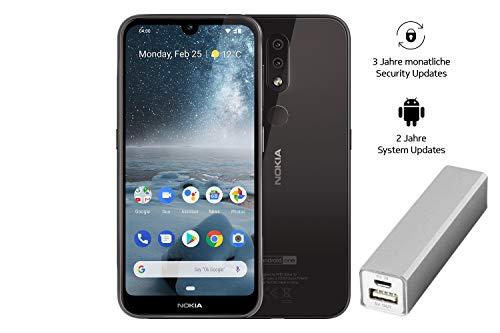 Nokia 4.2 Dual SIM Smartphone - Deutsche Ware (14,5 cm (5.71 Zoll), 13 MP Hauptkamera, 3GB RAM, 32 GB interner Speicher, Android 9 Pie) schwarz, Amazon Edition inkl. Powerbank