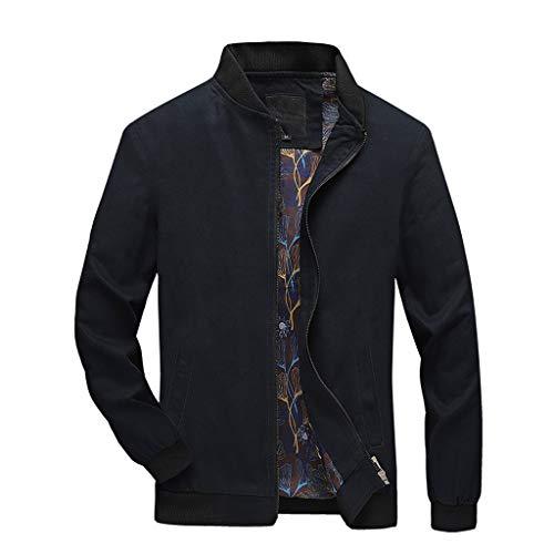 Tosonse Bomberjacke Herren Herbst Lässige Mode Reine Farbe Mit Kapuze Mantel Patchwork Jacke Reißverschluss Outwear Mantel