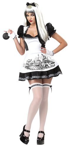 Damen Halloween-Verkleidung Dark Alice Fairytale Wonderland, Größen 32-40