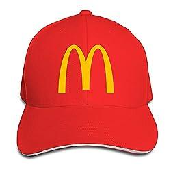 Unisex Mcdonalds Logo Adjustable Snapback Baseball Cap RoyalBlue One Size