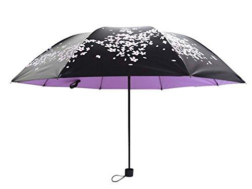 Sun Parapluies Vinyl Sun Umbrella Cerisier Effacer Umbrella Trois Folding