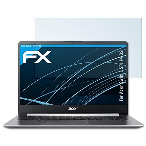 atFolix Schutzfolie kompatibel mit Acer Swift 1 SF114-32 Folie, ultraklare FX Bildschirmschutzfolie (2X)
