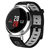 PINCHU Smartwatch M10 Für Android 4.3 und Höher/Ios 7 und Höher/Touchscreen/Herzfrequenz Schrittzähler/Aktivität/Schlaf,Silver