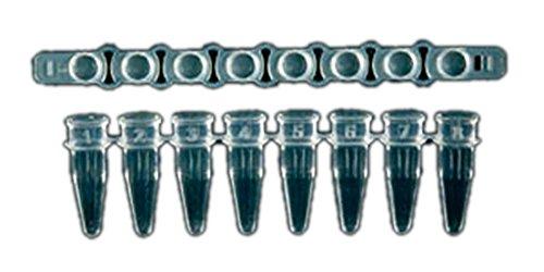 S.S.I. 840873 Mikroschlauch und flache Kappe für Ultraflux PCR Tube, naturfarben, 12 Streifen, 80 Stück