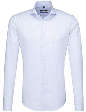SEIDENSTICKER Herren Hemd X-Slim 1/1-Arm Bügelfrei Streifen City-Hemd Hai-Kragen Manschette weitenverstellbar