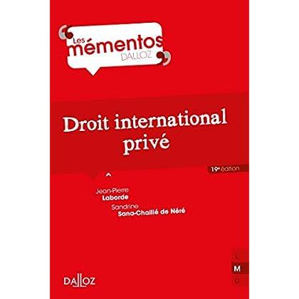 Droit international privé - 19e éd.