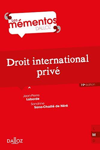 Droit international privé par Jean-Pierre Laborde
